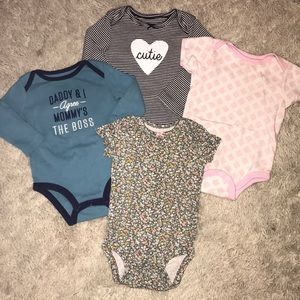 Other - Lot of four baby girl onesies